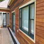 stained wood siding